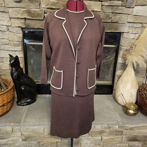 Vintage Knits by Tally 3 pc Chocolate Brown Set